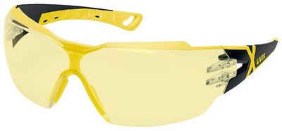 Uvex Arbeitsschutzbrille »uvex Schutzbrille pheos cx2 gelb/schwarz«