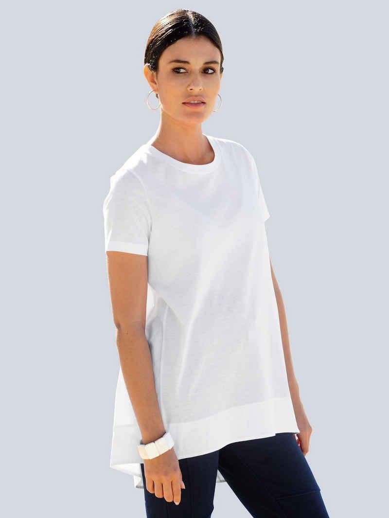 Alba Moda T-Shirt im Material-Mix mit mercerisierter Baumwolle