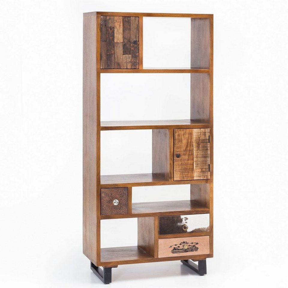 Wohnling Bucherregal Wl5 090 Patna 180 X 80 X 35 Cm Massiv Holz