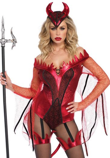 24costumes Kostüm »Dazzling Red Devil - Groesse: M - Farbe: Red«