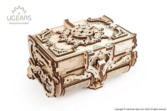 UGEARS 3D-Puzzle »UGEARS Holz 3D-Puzzle Modellbausatz ANTIK BOX«, 185 Puzzleteile