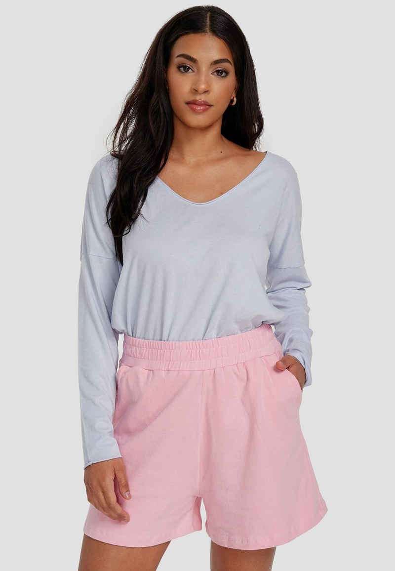 Cotton Candy Langarmshirt »NOELLE« mit V-Ausschnitt