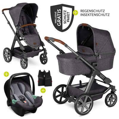 ABC Design Kombi-Kinderwagen »Condor 4 - Street«, (9-tlg), 3in1 Kinderwagen-Set - inkl. Babywanne, Babyschale Tulip, Sportsitz & Zubehörpaket