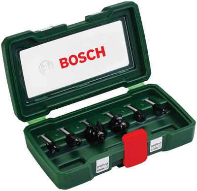 BOSCH Fräsbohrer, (Set, 6-tlg), HM-Fräser 8 mm Schaft