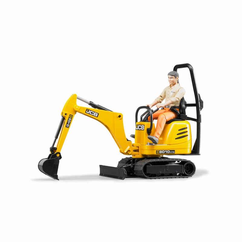 Bruder® Spielzeug-Bagger »JCB Mikro 8010 CTS mit Figur«