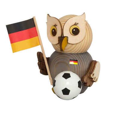 Kuhnert Sammelfigur »37301, Mini Eule mit Fußball«, Holzfigur, Made in Germany