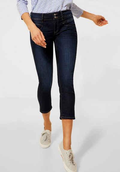STREET ONE 3/4-Jeans »Jane« mit kontrastfarbenen Nähten
