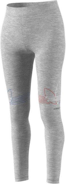 Hosen - adidas Originals Leggings »ADICOLOR TRICOLOR« › grau  - Onlineshop OTTO