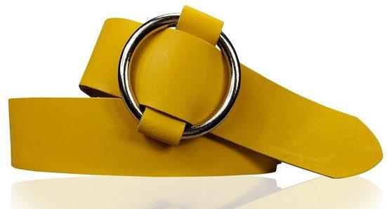 FRONHOFER Taillengürtel »18615« Damengürtel, große Ring-Schnalle stufenlos einstellbar, sehr bequem