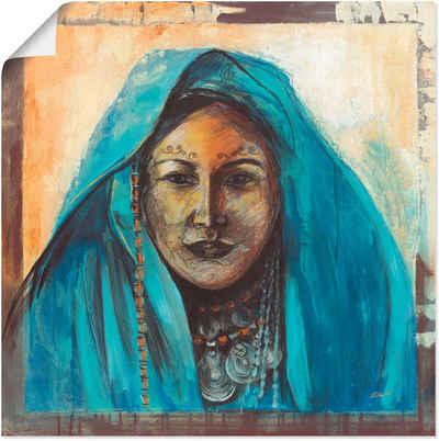 Artland Wandbild »Beduinin«, Frau (1 Stück), in vielen Größen & Produktarten - Alubild / Outdoorbild für den Außenbereich, Leinwandbild, Poster, Wandaufkleber / Wandtattoo auch für Badezimmer geeignet