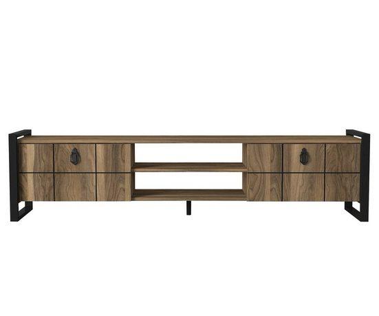 moebel17 TV-Regal »TV Lowboard Lost mit Metallfüße Walnuss«, modernes TV Lowboard mit viel Stauraum