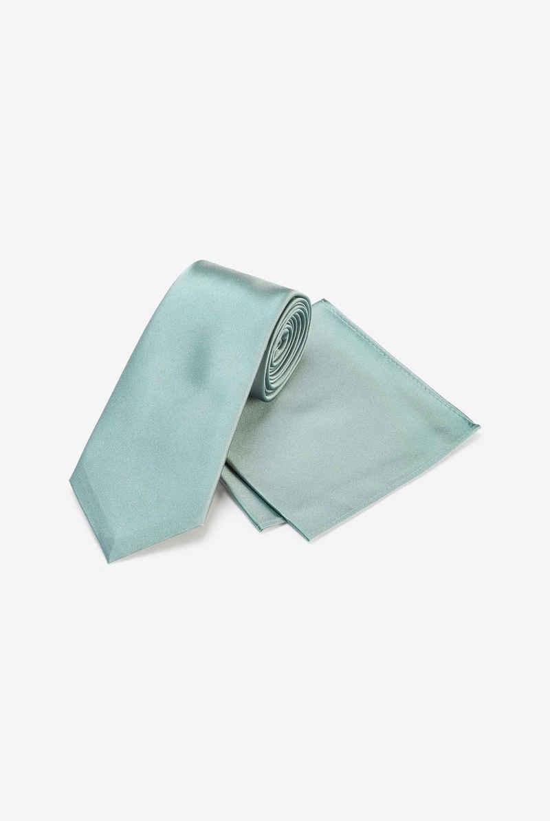 Next Krawatte »Set aus Seidenkrawatte und Einstecktuch« (2-St)