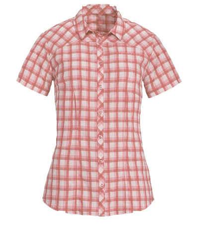 VAUDE Karobluse »VAUDE Tacun Wander-Bluse angenehme Damen Sommer-Bluse mit femininen Schnitt Rot/Weiß Karo-Shirt kariert«