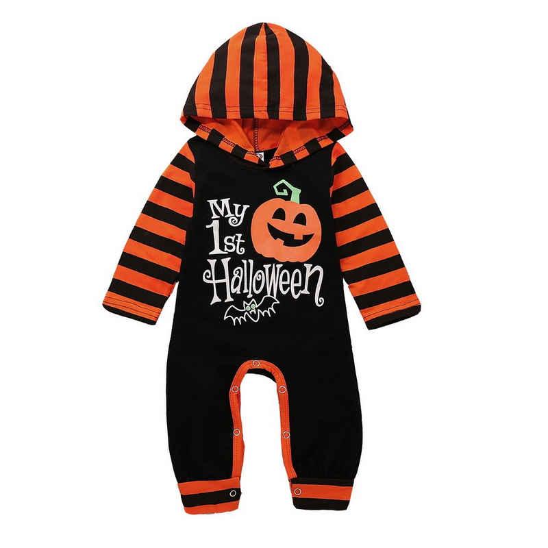 LAPA Strampler »LAPA Babyoverall, Kürbis gestreift, Halloween«