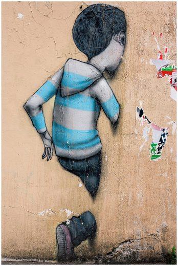 ART & PLEASURE Acrylglasbild »Run through the wall«, aus Acrylglas