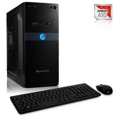 Memory PC Windows 10 Home Business-PC (AMD A10 9700, Radeon R7, 8 GB RAM, 2000 GB HDD, 240 GB SSD, Luftkühlung)