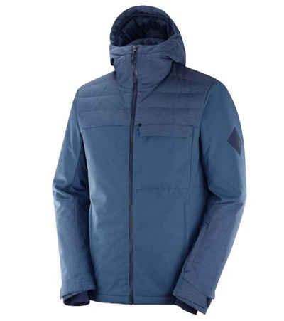 Salomon Skijacke »Salomon Deepsteep Ski-Jacke robuste Winter-Jacke für Herren Snowboardjacke Schnee-Jacke Blau«