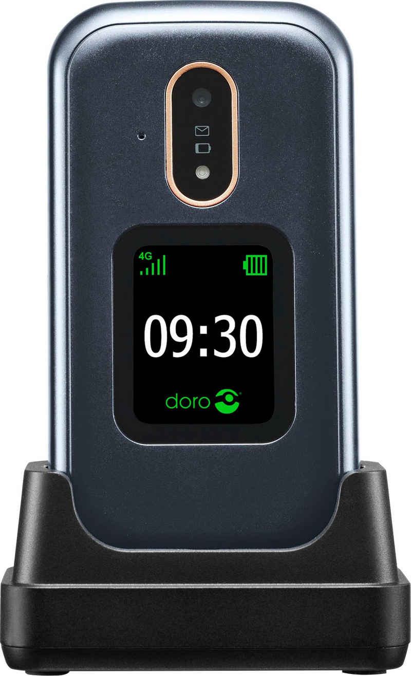 Doro 7080 Klapphandy (7,11 cm/2,8 Zoll, 4 GB Speicherplatz, 5 MP Kamera)