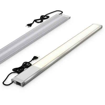 B.K.Licht LED Unterbauleuchte, 10 W LED-Unterbauleuchte 1100 Lumen Länge: 57,5 cm 3.000K warmweiße Lichtfarbe IP20 Unterbaulampe Küchenlampe Werkstattlampe
