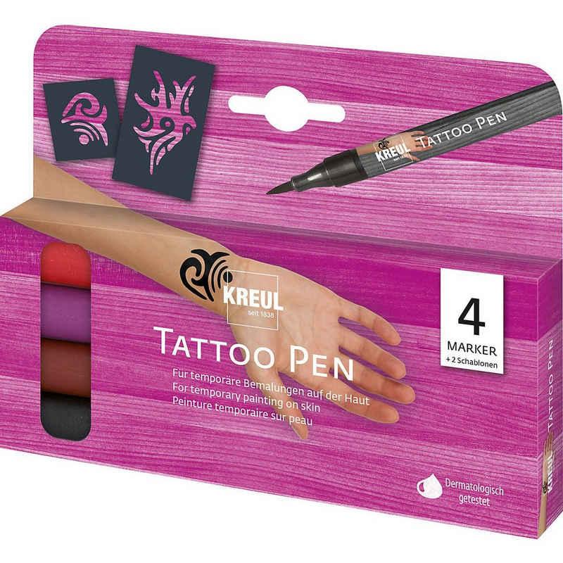 Kreul Schmuck-Tattoo »KREUL Tattoo Pen 4er Set Tribals«