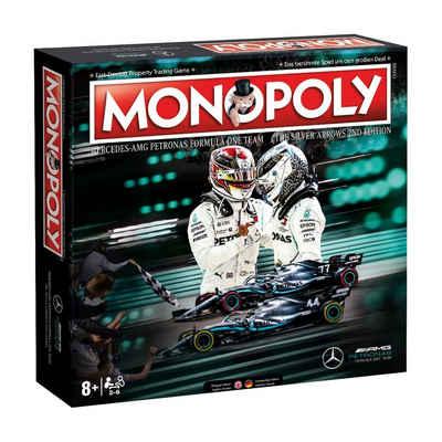 Winning Moves Spiel, Brettspiel »Monopoly Mercedes F1 AMG Petronas«, zweisprachig