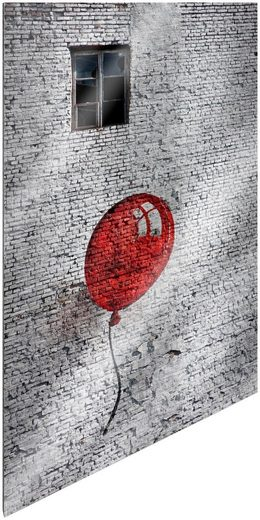 Art & Pleasure Metallbild »Stone balloon«, Städte