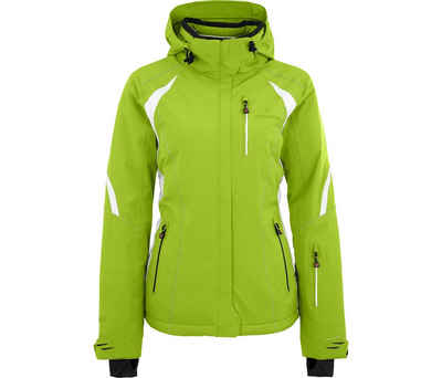 Bergson Skijacke »SNOWTASTIC« Damen Skijacke, wattiert, 20000mm Wassersäule, Normalgrößen, lime grün