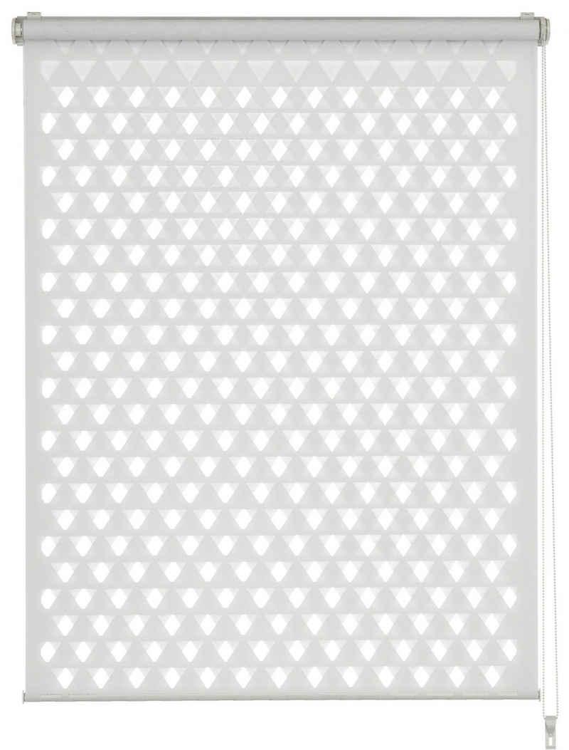 Doppelrollo »EASYFIX Duo Rollo Cut-Out Dreieck«, GARDINIA, Lichtschutz, ohne Bohren, im Fixmaß