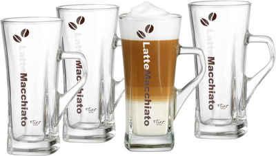 Ritzenhoff & Breker Latte-Macchiato-Glas »Crema«, Glas, hitzebeständig, 330 ml, 4-teilig