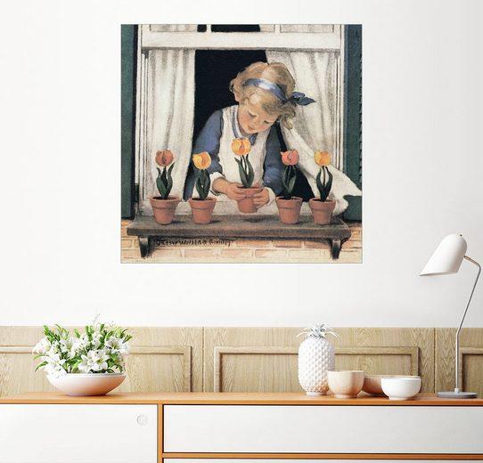 Posterlounge Wandbild, Setzen von Tulpen