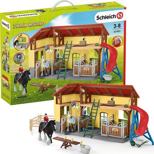 Schleich® Spielfigur »Schleich 42485 Farm World: Pferdestall«