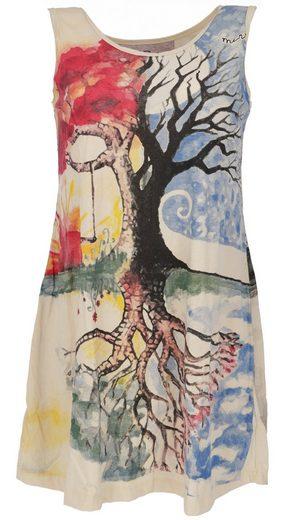 Guru-Shop T-Shirt »Mirror Top, Longshirt, Minikleid - Lebensbaum..«