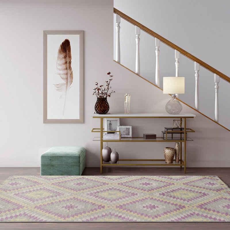 Teppich »Bodrum Kilim«, CosmoLiving by Cosmopolitan, rechteckig, Höhe 8 mm, Kelim Optik, Wohnzimmer