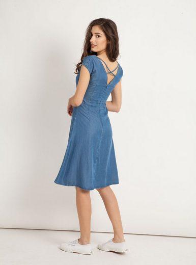 Mavi A-Linien-Kleid »SLEEVELESS DENIM DRESS« Kleid im Denim-Look