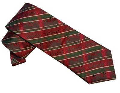 Moschen-Bayern Krawatte »Trachtenkrawatte Herren Krawatte Seidenkrawatte Herrenkrawatte 100% Seide Rot-Grün« edler Wiener Seiden-Jacquard