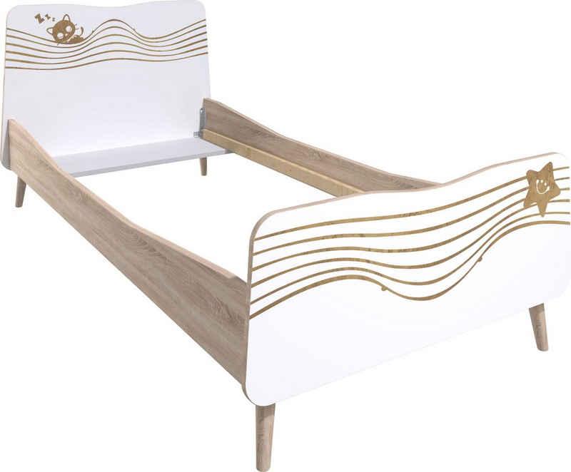 Lüttenhütt Einzelbett »Nethe«, mit Print, Breite 102 cm