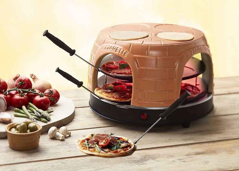 Emerio Standgrill Pizza-Ofen, PIZZARETTE PO-116124.1 für 8 Personen Mini-Pizza, 1500 W