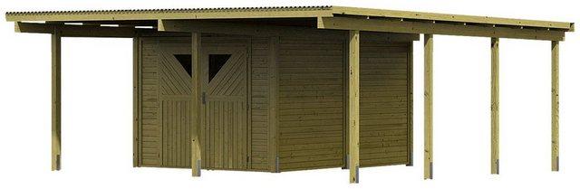 KARIBU Set: Doppelcarport »Eco 2«, BxT: 563x676 cm   Baumarkt > Garagen und Carports   Karibu