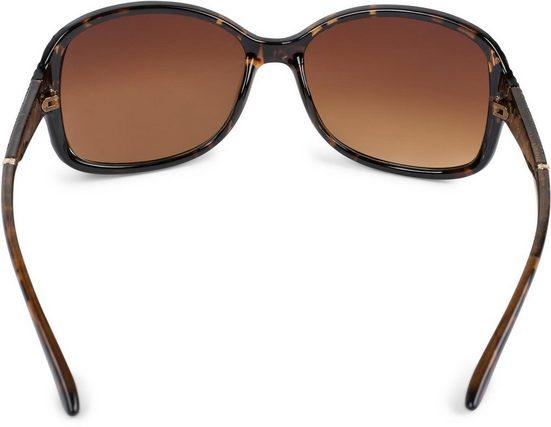 styleBREAKER Sonnenbrille »Oversize Sonnenbrille mit Strukturierten Bügeln« Getönt
