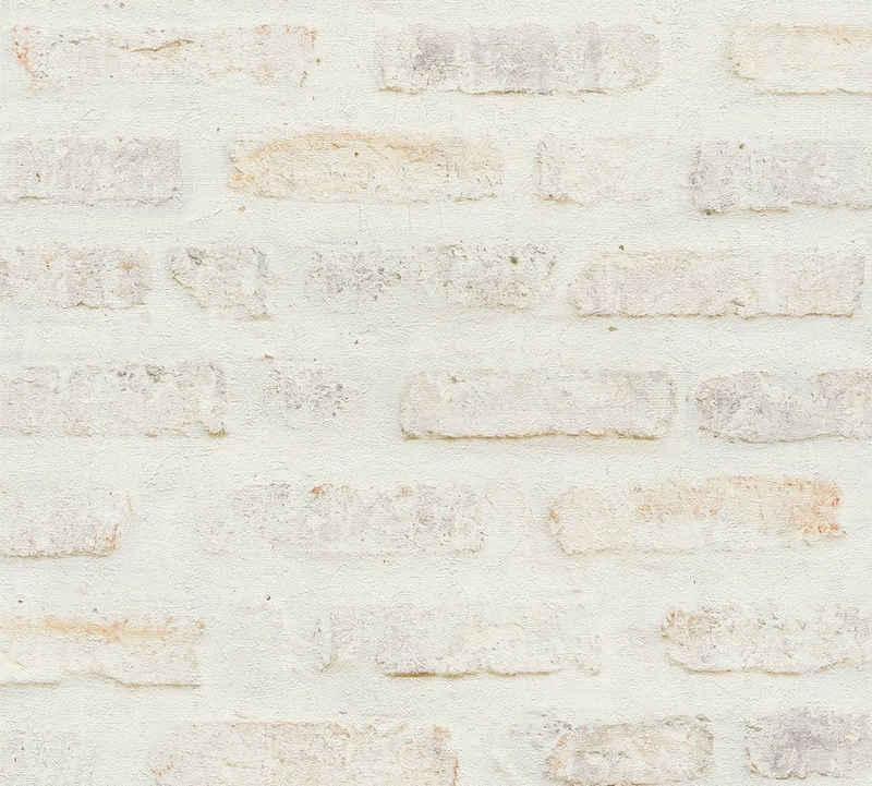living walls Vliestapete »New Walls Loft Living in Vintage Backstein Optik«, gemustert