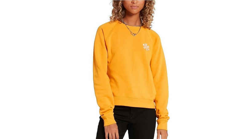 Volcom Longsweatshirt »Volcom Damen Sweatshirt Truly Stokin Crew gelb«