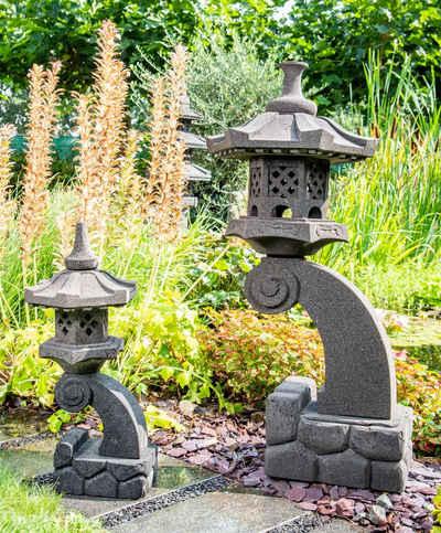 IDYL Gartenfigur »Lavastein Laterne Rankei«, Lavastein Laterne aus Echtstein gefertigt in Handarbeit. Die Einzelteile sind durchgebohrt, so dass eine elektrische Beleuchtung angebracht werden kann. Naturmaterial - keine industrielle Massenware (Guss).