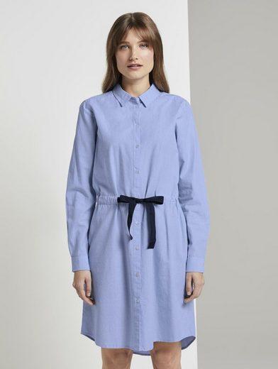 TOM TAILOR Denim Shirtkleid »Kurzes Hemdkleid mit Bindegürtel«