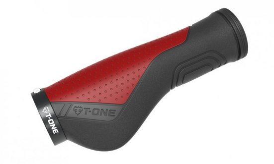 T-ONE Fahrradlenker »Griffe T-One Ripple Ergo schwarz/rot 130mm 1x Schr«