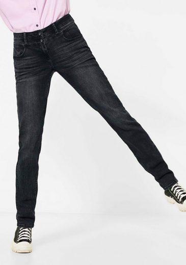 Cecil Loose-fit-Jeans »Scarlett« mit schwarzen Spitzennieten