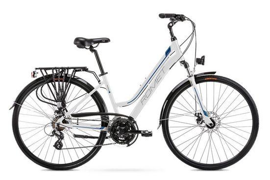 breluxx Trekkingrad »28 Zoll ALU Trekking Damenfahrrad Citybike FS - Gazela 2, weiss«, 21 Gang Shimano Tourney Schaltwerk, Kettenschaltung