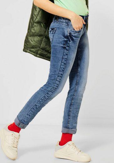 Cecil Slim-fit-Jeans »Scarlett« mit Herzniete an der Eingriffstasche