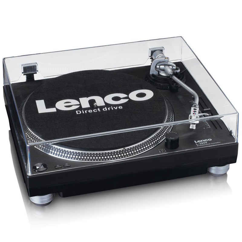 Lenco »L-3809 Plattenspieler mit Direktantrieb« Plattenspieler (Direktantrieb, 2 Geschwindigkeiten 33 U/min und 45 U/ min, Digitalisierung der Schallplatten über PC)