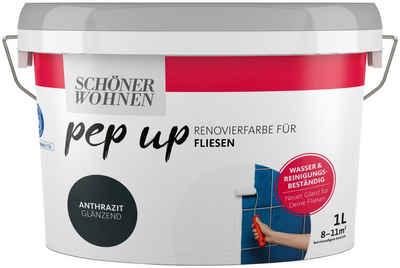 SCHÖNER WOHNEN-Kollektion Fliesenlack »pep up - anthrazit«, glänzend, für Fliesen, 1 l