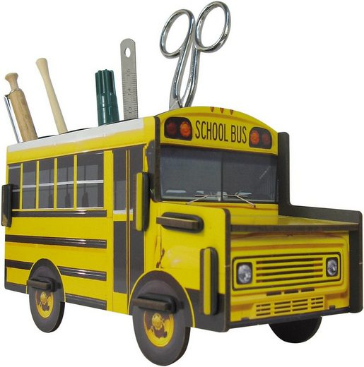 WERKHAUS® Dekokorb »Stiftebox School Bus«